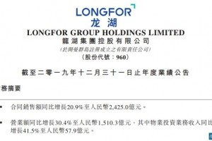 龙湖集团本年冲击2600亿2020年9座商场将开业